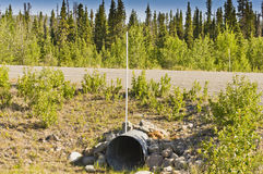 Culvert under Alaska Highway Royalty Free Stock Photography