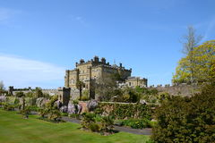 Culzean Castle, Ayrshire on a sunny day. Culzean Castle is a neoclassical mansion near Maybole in Ayrshire.  Once the family home of the Kennedys, it dates from Royalty Free Stock Image