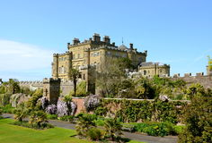 Culzean Castle, Ayrshire on a sunny day. Culzean Castle is a neoclassical mansion near Maybole in Ayrshire.  Once the family home of the Kennedys, it dates from Royalty Free Stock Images