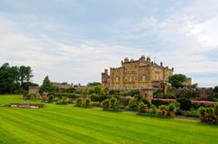 Culzean Castle and lawn in summer Royalty Free Stock Photo