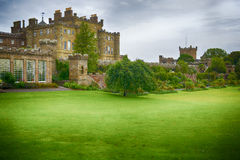 Culzean castle. An overcast day in Scotland Royalty Free Stock Image