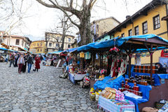 Cumalikizik by, Bursa, Turkiet Royaltyfri Bild