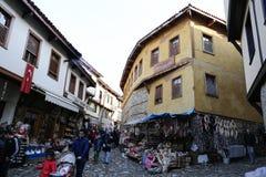 Cumalikizik by, Bursa, Turkiet Arkivbilder