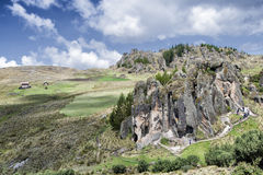 Cumbe Mayo, αρχαιολογικό σύνθετο κοντινό Cajamarca, Pere Στοκ φωτογραφία με δικαίωμα ελεύθερης χρήσης