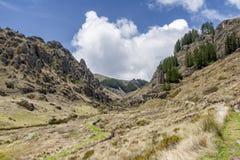 Cumbe Mayo, archeologische complexe dichtbijgelegen Cajamarca, Pere Stock Afbeeldingen