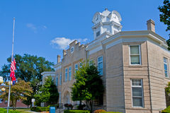 Cumberland Courthouse. Cumberland County Courthouse in Crossville, Tennessee USA Royalty Free Stock Photography