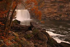 Cumberland Falls. Sometimes called the Little Niagara, the Niagara of the South, or the Great Falls, is a large waterfall on the Cumberland River in Royalty Free Stock Photography
