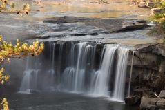 Cumberland Falls. In Kentucky.  This waterfall  is located near the city of Corbin in  state park.  Photo was taken in mid October during a drought. Even with a Royalty Free Stock Images