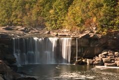 Cumberland Falls. In Kentucky.  This waterfall  is located near the city of Corbin in  state park.  Photo was taken in mid October during a drought. Even with a Royalty Free Stock Image