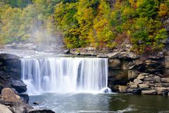 Cumberland Falls. Kentucky. Beautiful fall landscape. Long exposure Royalty Free Stock Photos