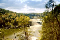 Cumberland Falls. Kentucky. Beautiful fall landscape, high viewpoint Stock Photography