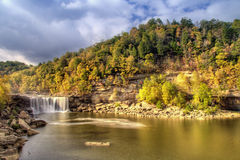 Cumberland falls. A scenic view of Cumberland falls in southern Kentucky in fall. HDR image Stock Photos