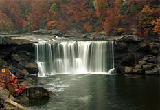 Cumberland Falls during fall Royalty Free Stock Photography
