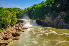 Cumberland falls. Scenic view of Cumberland falls in southern Kentucky in spring Royalty Free Stock Images