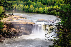 Cumberland falls. Scenic view of Cumberland falls in southern Kentucky in spring Stock Images