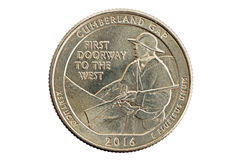 Cumberland Gap Kentucky Commemorative Quarter Coin Royalty Free Stock Photo