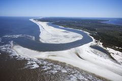 Cumberland Island. Aerial of coast at Cumberland Island National Seashore, Georgia Stock Images