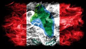 Cumberland Przewodzi miasto dymu flaga, stan nowy jork, Stany Zjednoczone Ameryka Fotografia Royalty Free