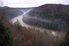 Cumberland river fog Royalty Free Stock Photography