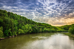 Cumberland River. Scenic view of Cumberland River with dramatic sky Royalty Free Stock Image