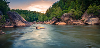 Cumberland River. Scenic view of Cumberland River at Cumberland Falls State Resort in Kentucky Royalty Free Stock Photos