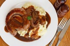 Cumberland sausage overview Stock Photos