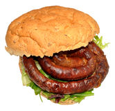 Cumberland Sausage Sandwich Stock Images