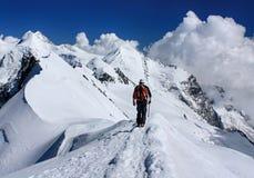 Cumbre de Breithorn Fotografía de archivo libre de regalías