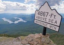 Cumbre de la montaña de Whiteface Imágenes de archivo libres de regalías