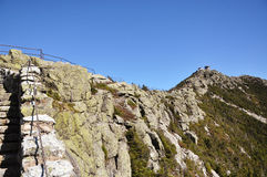 Cumbre de la montaña de Whiteface y estación meteorológica Fotos de archivo