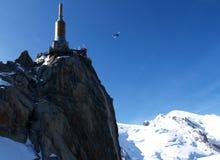 Cumbre de Mont Blanc Imagen de archivo libre de regalías