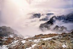 Cumbre de Mt Rysy Imagen de archivo libre de regalías