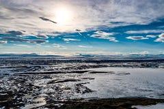 Cumbre de Vindbelgur en Islandia Imagen de archivo libre de regalías
