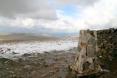 Cumbre de Whernside. Foto de archivo libre de regalías