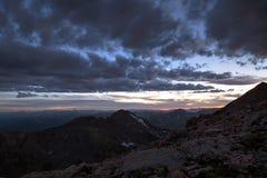 Cumbre del Mt Evans Foto de archivo