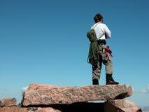 Cumbre del pico del granito Imagen de archivo libre de regalías