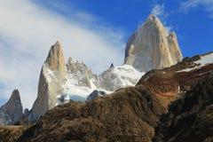 Cumbre famosa del Mt Fitz Roy Imagen de archivo