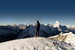 Cumbre máxima de la isla - Nepal Imagenes de archivo