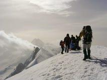 Cumbre occidental de Breithorn Imagen de archivo libre de regalías