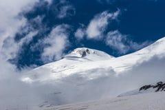 Cumbre occidental del Mt elbrus Fotos de archivo
