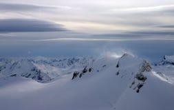Cumbre ventosa Imagenes de archivo