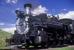 The Cumbres and Toltec Scenic Railroad traveling from Chama, New Mexico to Antonio, Colorado Stock Photography