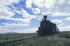 The Cumbres and Toltec Scenic Railroad traveling from Chama, New Mexico to Antonio, Colorado Royalty Free Stock Images