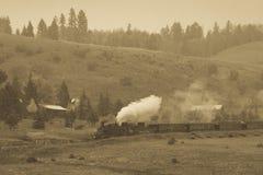 Cumbres & Toltec Scenic Steam Train, Chama, New Mexico to Antonito, Colorado over Cumbress Pass 10,015 Elevation. OCTOBER 9, 2018 - New Mexico, USA - Cumbres & royalty free stock photos