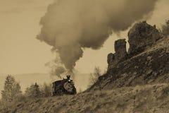 Cumbres & Toltec Scenic Steam Train, Chama, New Mexico to Antonito, Colorado over Cumbress Pass 10,015 Elevation stock photos