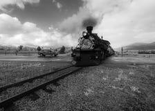 Cumbres & Toltec Scenic Steam Train, Chama, New Mexico to Antonito, Colorado over Cumbress Pass 10,015 Elevation royalty free stock image