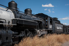Cumbres and Toltec train resting in Antonito Colorado Royalty Free Stock Images