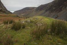 Cumbria, Engeland, het UK - weiden en heuvels stock afbeelding