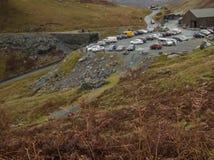 Cumbria, Engeland, het UK - weiden, heuvels en de leimijn stock fotografie
