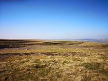 Cumbria hillside view stock photography
